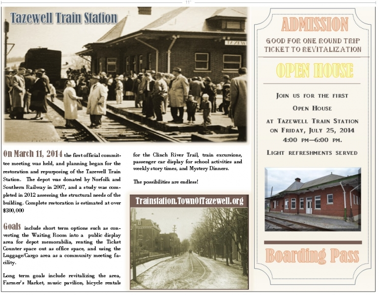 Tazewell Train Station Open House