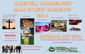 Tazewell Summerfest (Main Street Moments) @ Tazewell | Virginia | United States