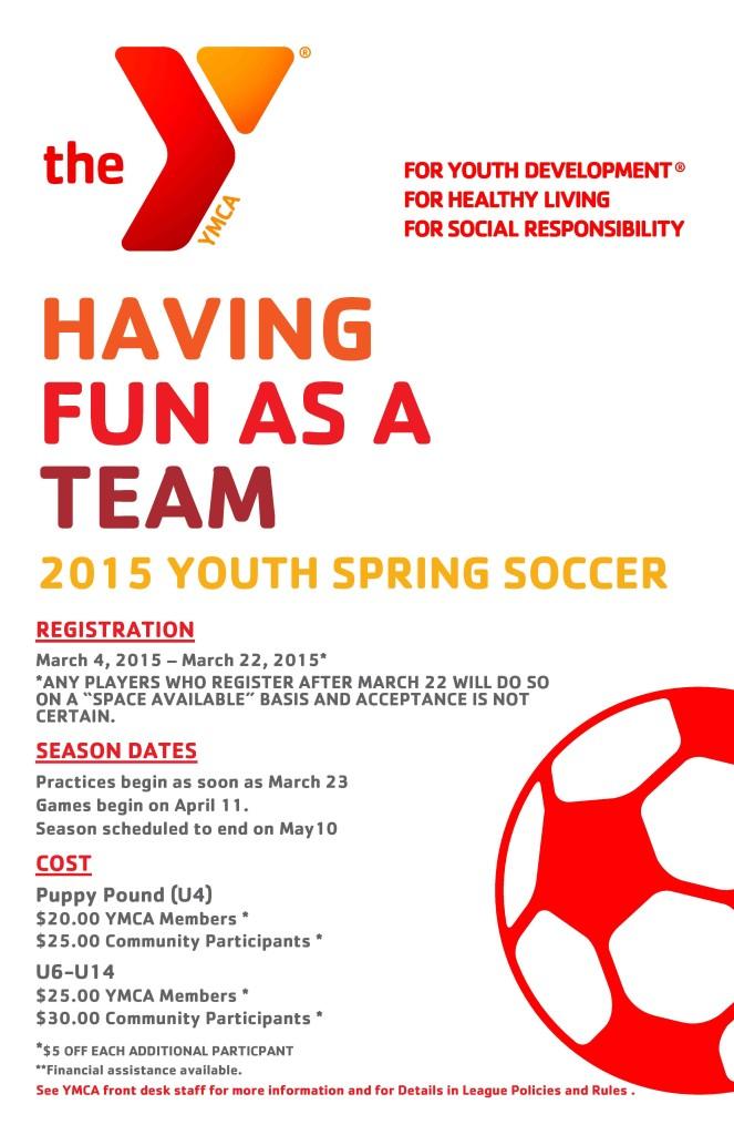 2015 Y Spring Soccer Poster