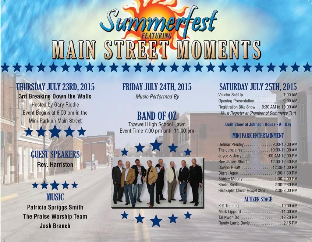 MainStreet2015 Schedule