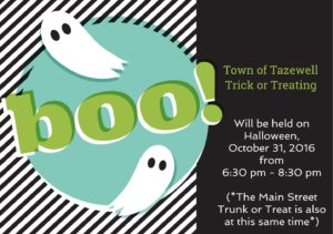 Halloween Trick or Treating @ Town of Tazewell