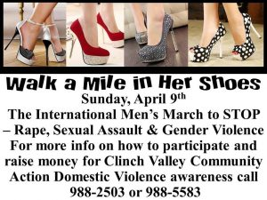 Walk a Mile in Her Shoes @ Tazewell High School - track