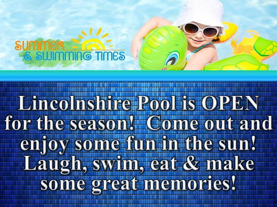 Lincolnshire Pool Open for 2017 Season