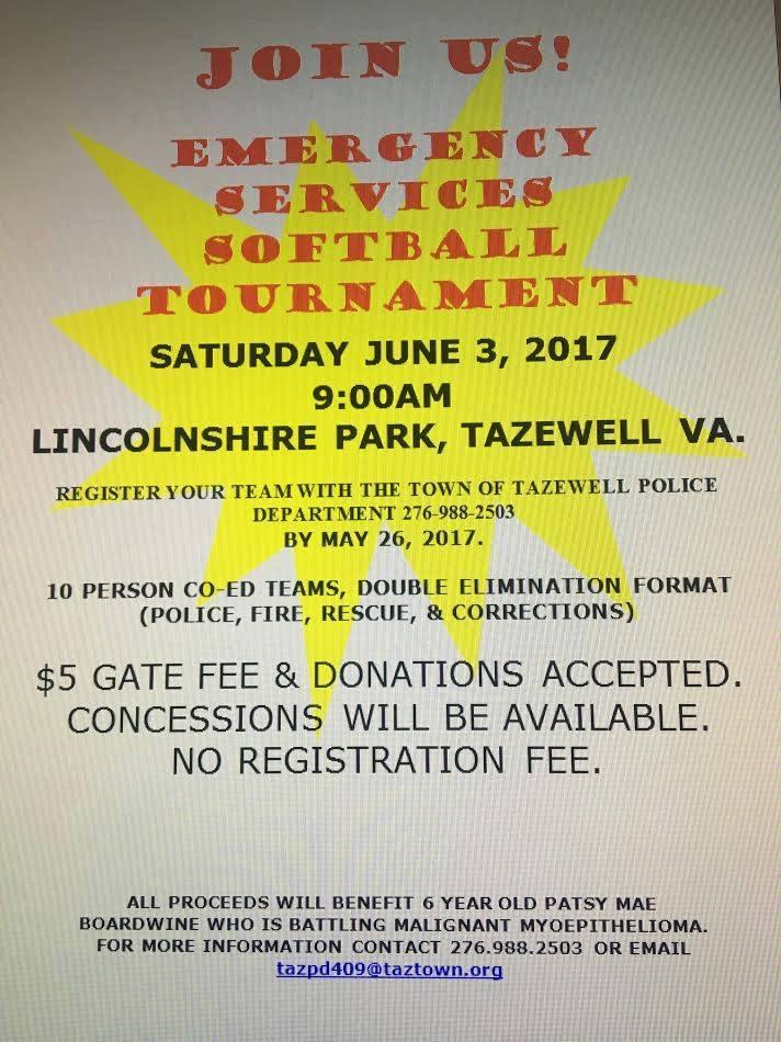 Emergency Services Softball Tournament