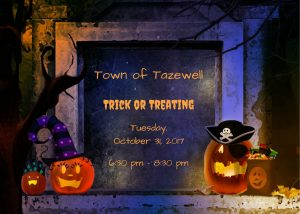 Trick or Treating for the Town of Tazewell