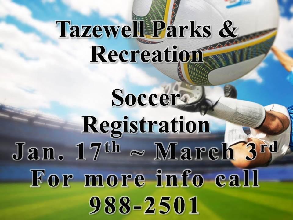 Soccer Registration Open Through March 3 2018