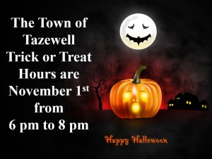 Halloween Trick or Treating for Town of Tazewell @ Town of Tazewell