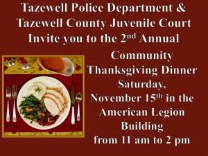 Community Thanksgiving Dinner @ American Legion Building
